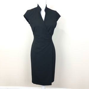 Calvin Klein Black Front Snap Closure Dress